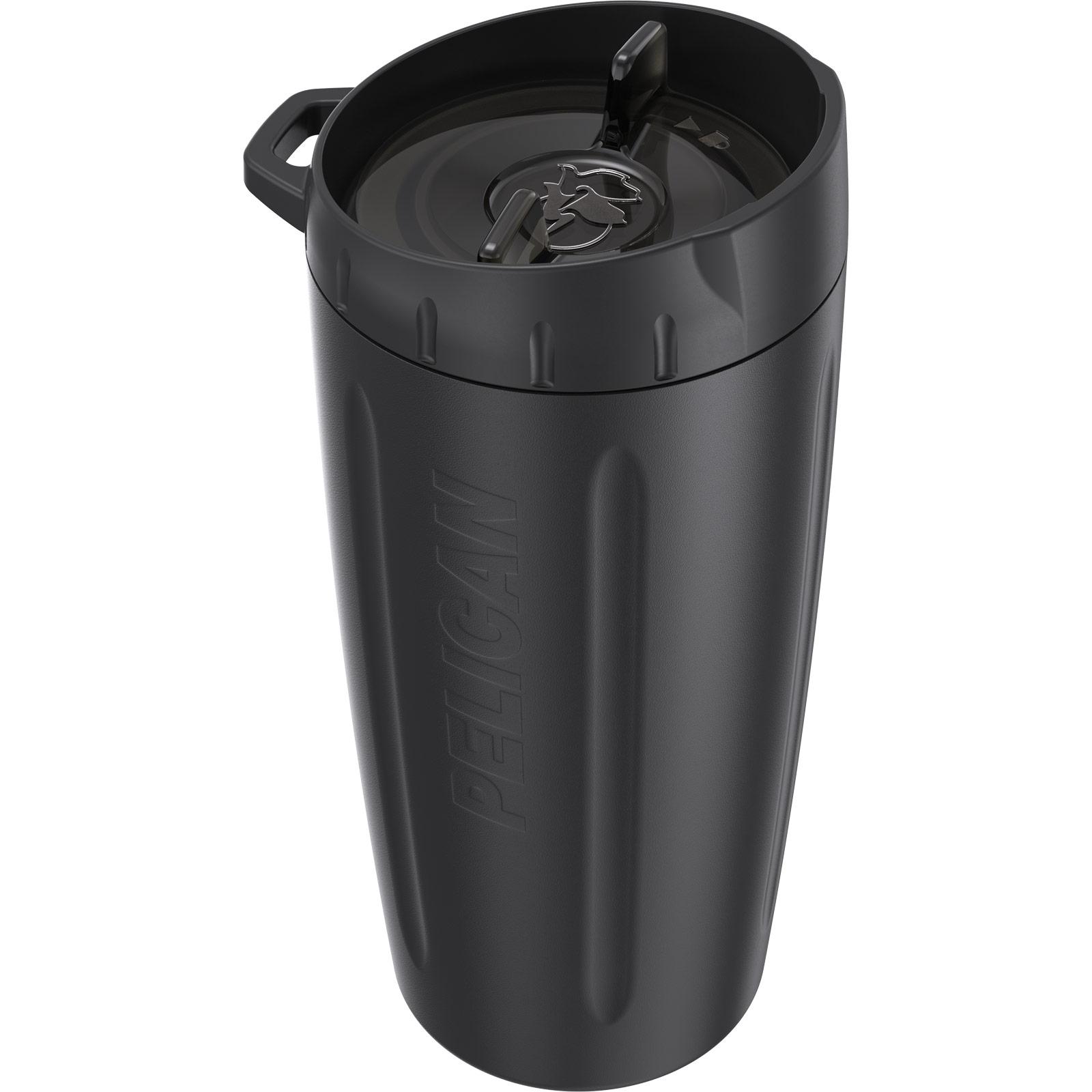 pelican 16oz black stainless steel tumbler
