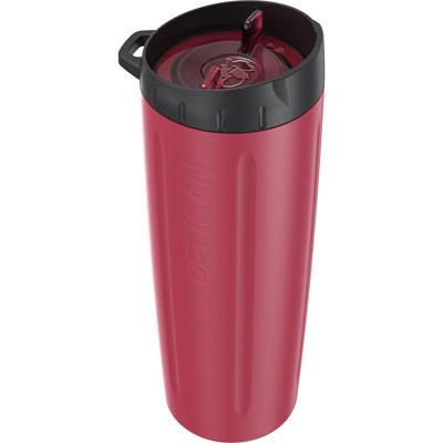 pelican red 22oz stainless steel drink tumbler