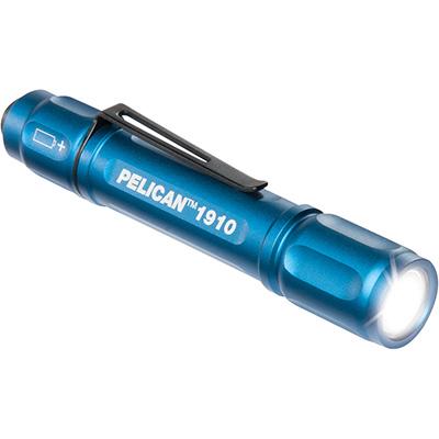 pelican 1910 pocket blue led bright flashlight