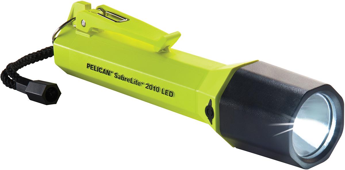 pelican 2010 yellow sabre safety flashlight
