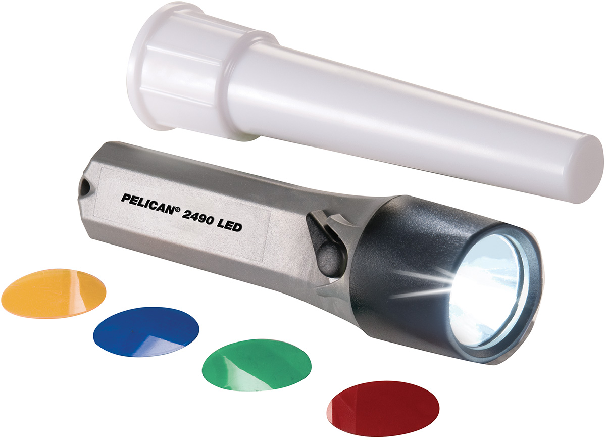 pelican red yellow airplane signal wand light