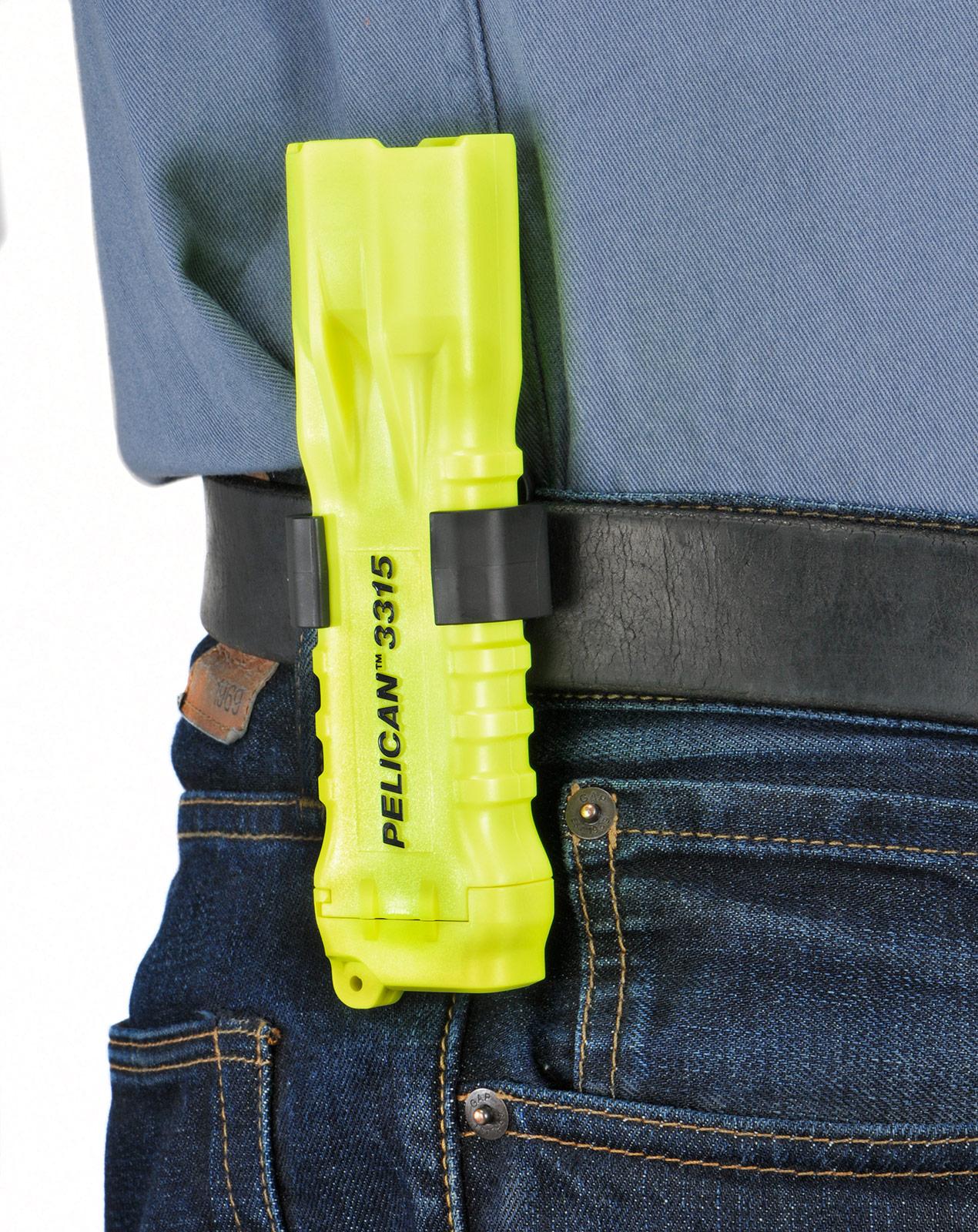 pelican 3315 belt clip yellow flashlight