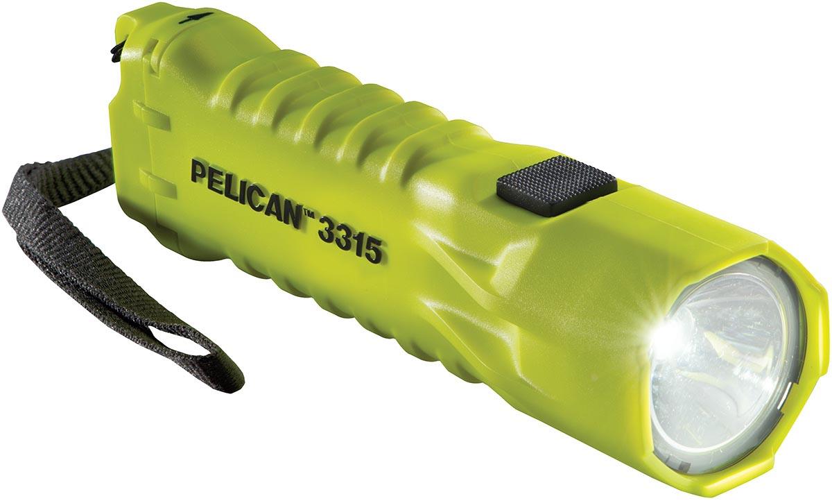 pelican 3315 yellow led safety flashlight