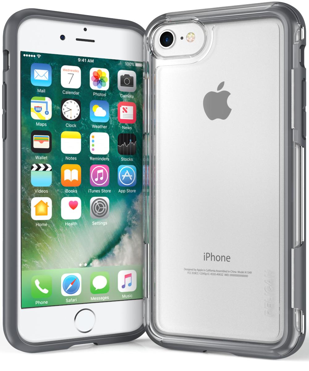 pelican grey iphone 7 case clear adventurer