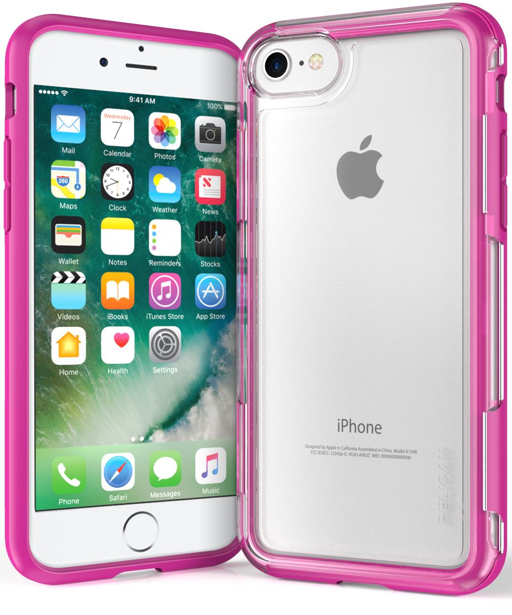 pelican iphone 7 clear pink case adventurer