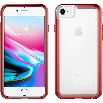 pelican red iphone 8 case adventurer cases