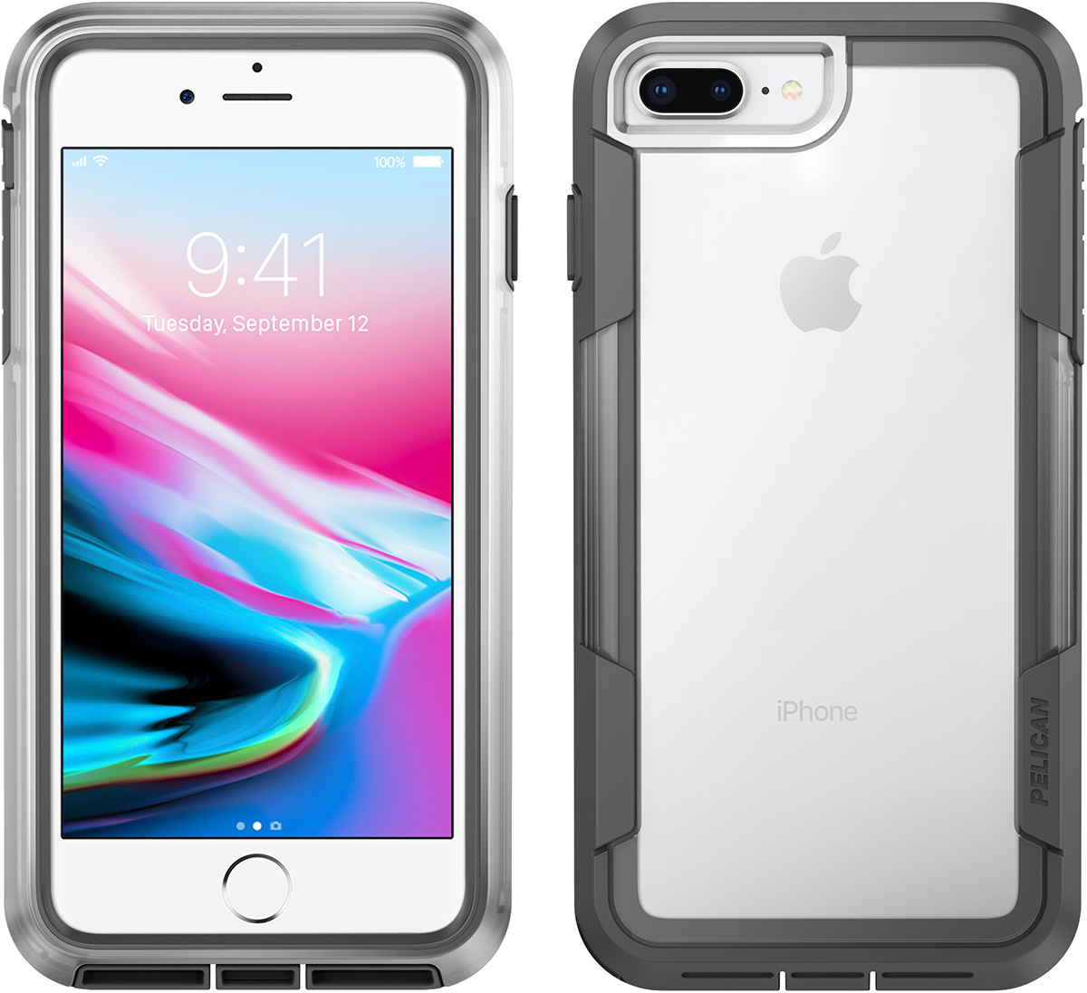 pelican clear phone case iphone 8 plus
