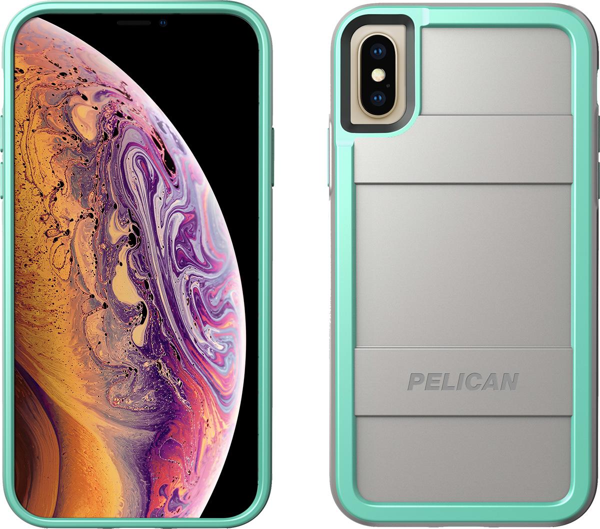 pelican aqua gray iphone xs case protector