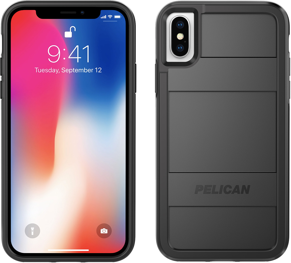 pelican iphone x case black protector