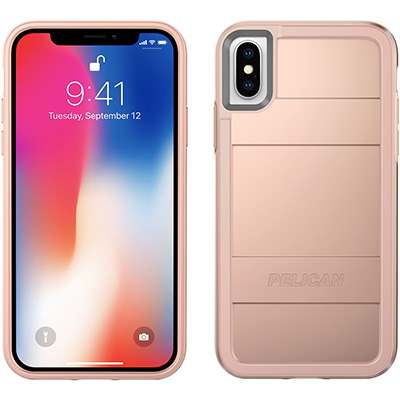 pelican rose gold iphone x case protector