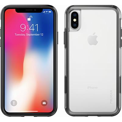 pelican iphone x case clear black cases