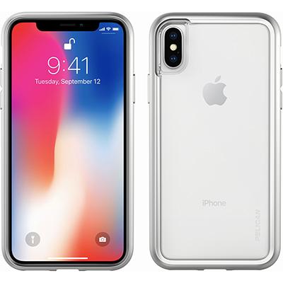 pelican silver clear iphone x case phone