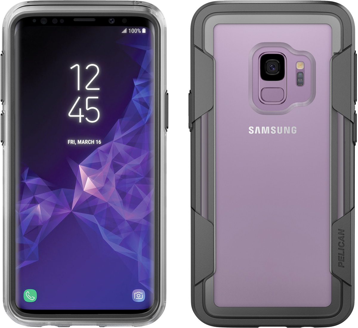 pelican clear voyager phone case galaxy s9