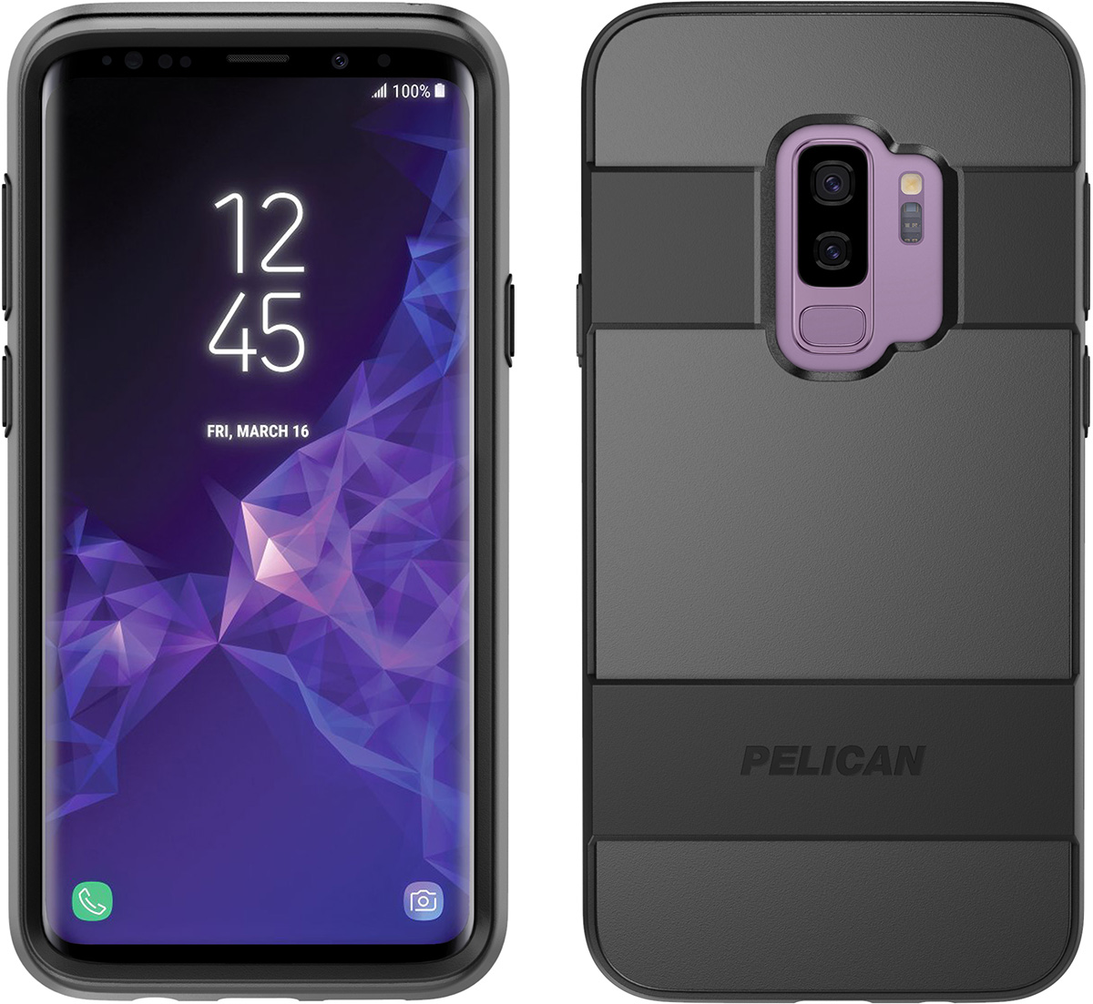 pelican samsung galaxy s9 plus case black