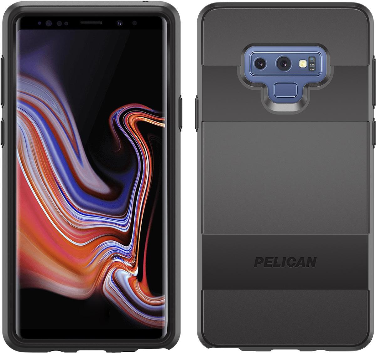 pelican samsung note9 sleek black phone case