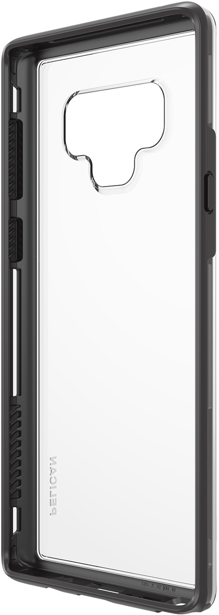 pelican samsung note9 clear black dual layer phone case
