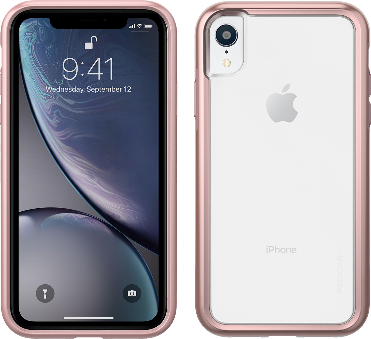 pelican apple iphone c42100 rose gold clear phone case