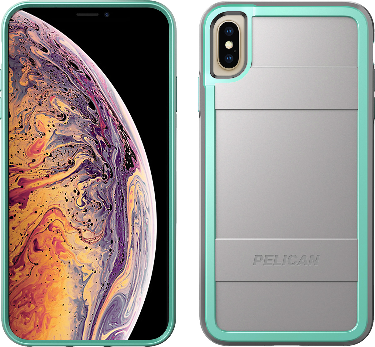 pelican apple iphone c43000 protector grey aqua phone case