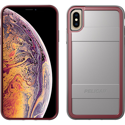 pelican apple iphone c43000 protector grey red phone case