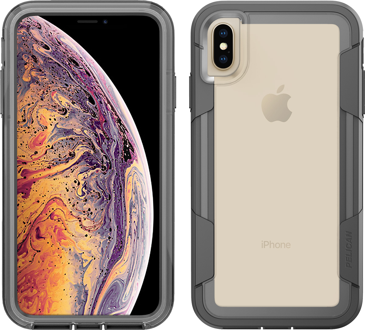 pelican apple iphone c43030 voyager grey phone case
