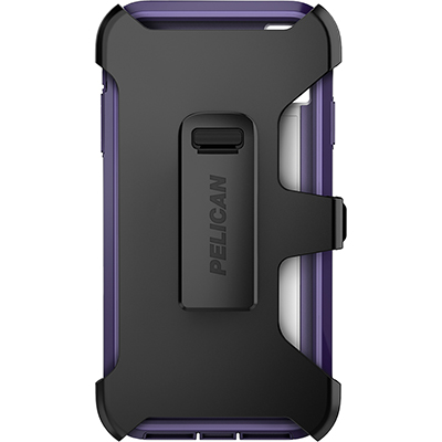 pelican apple iphone c43030 voyager purple clear phone case holster