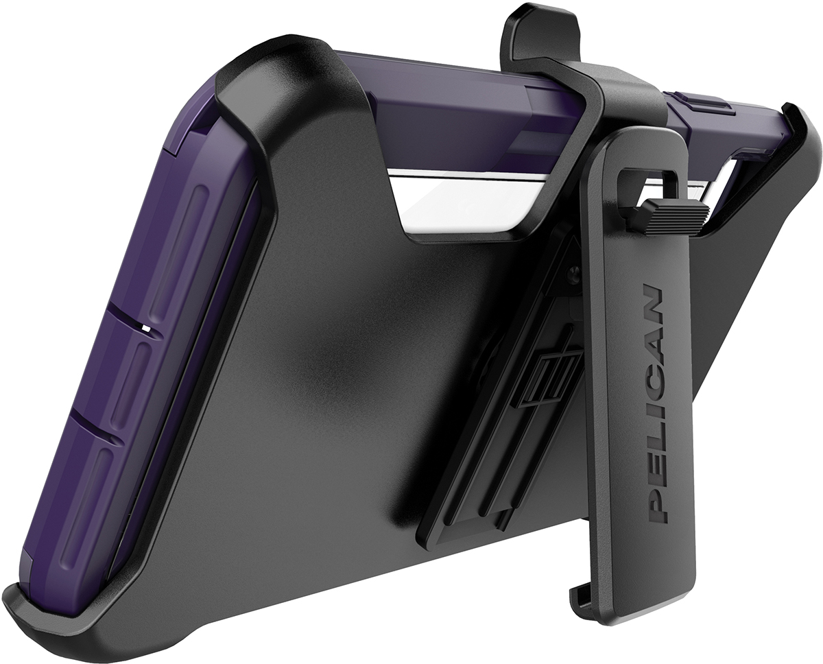 pelican apple iphone c43030 voyager purple clear phone case kickstand