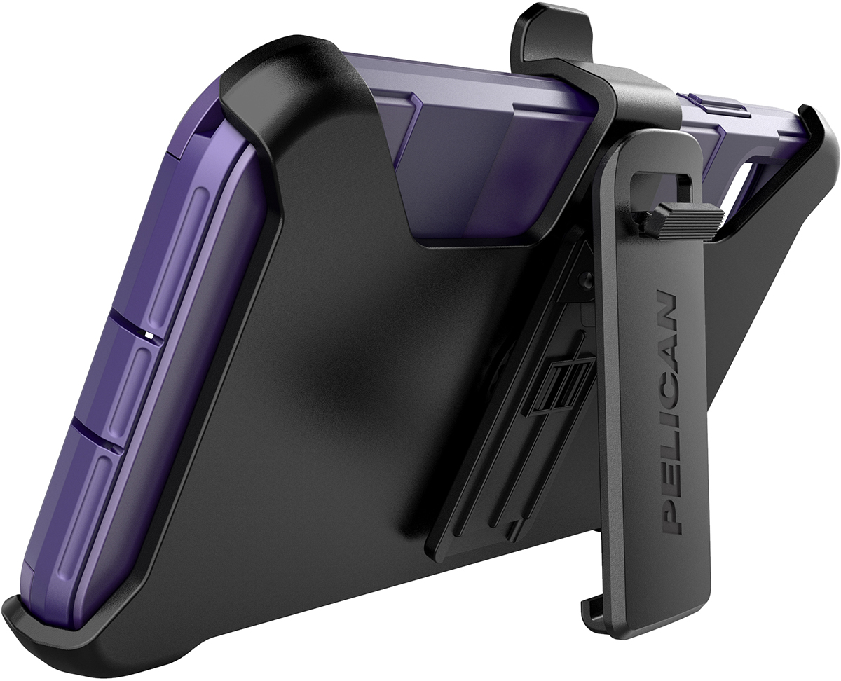pelican apple iphone c43030 voyager purple phone case kickstand