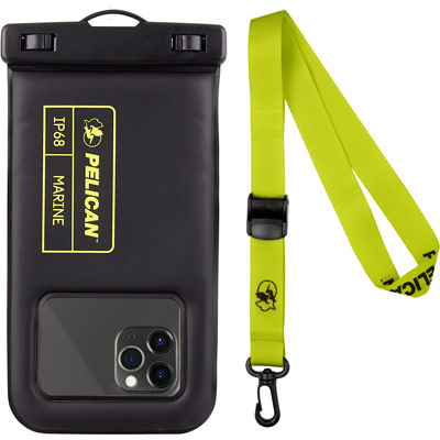 pelican pp043304 ip68 marine phone pouch lime