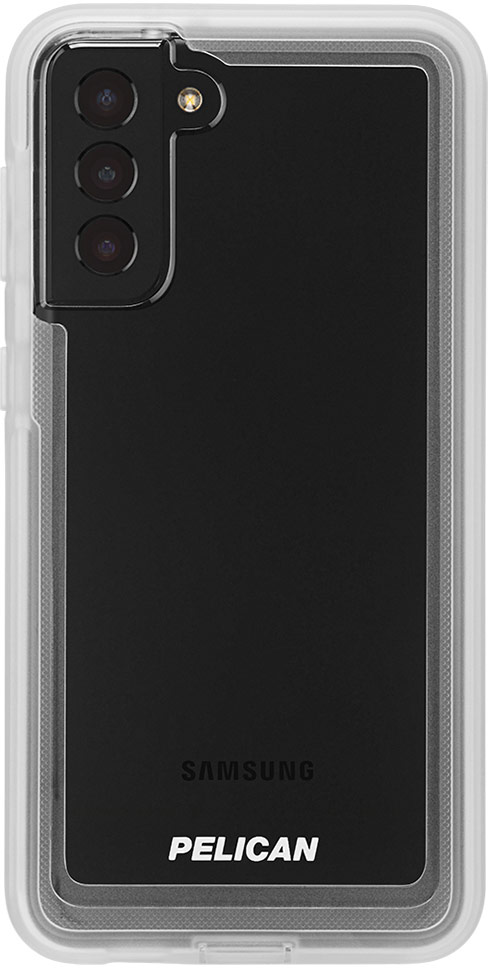 pelican pp045190 samsung galaxy s21 plus voyager military grade phone case clear