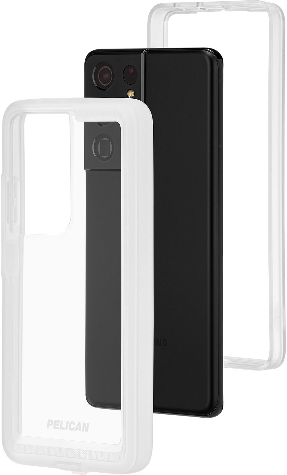 pelican pp045214 samsung galaxy s21 ultra 5g voyager phone case clear
