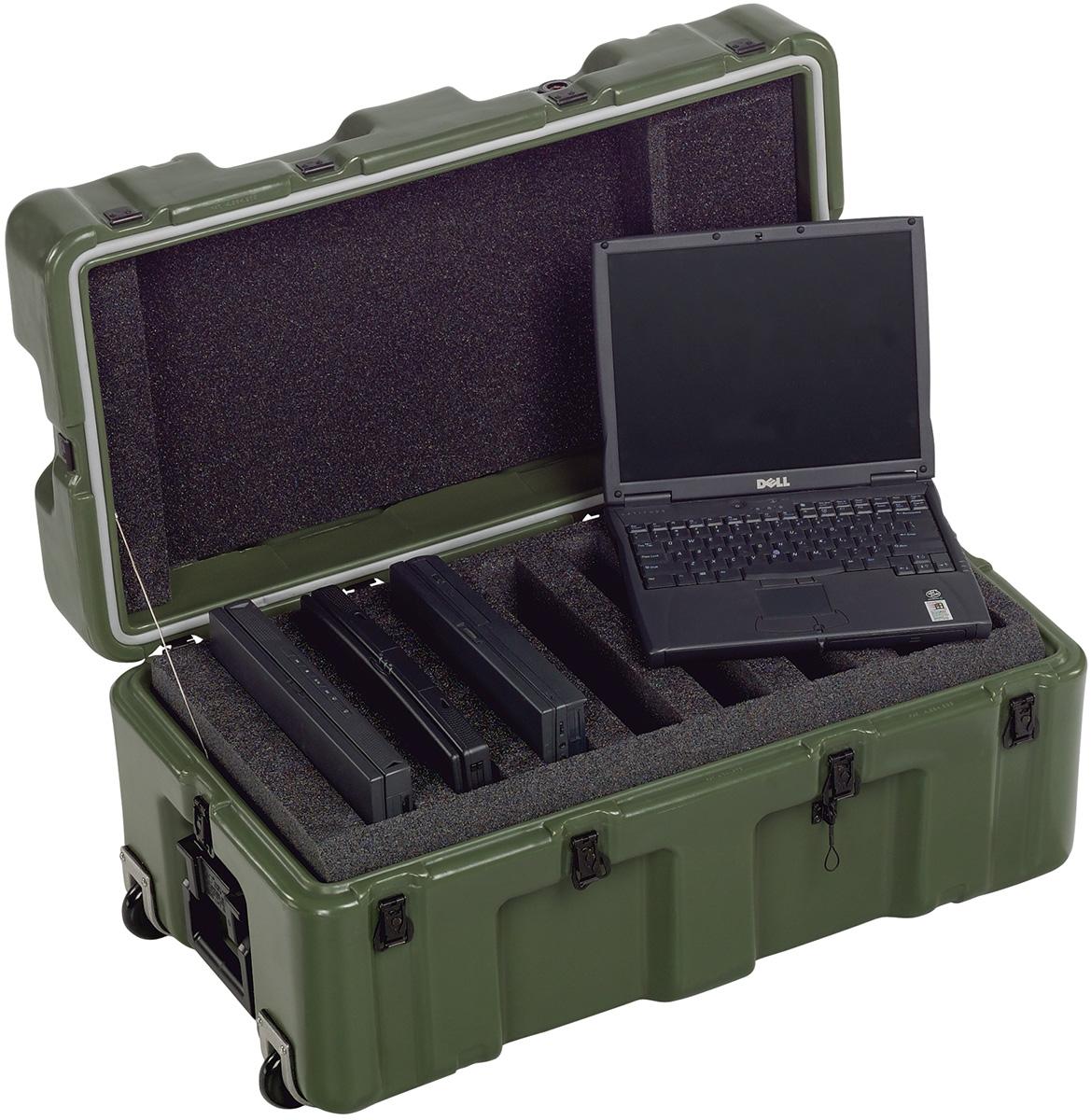pelican military laptop transport case