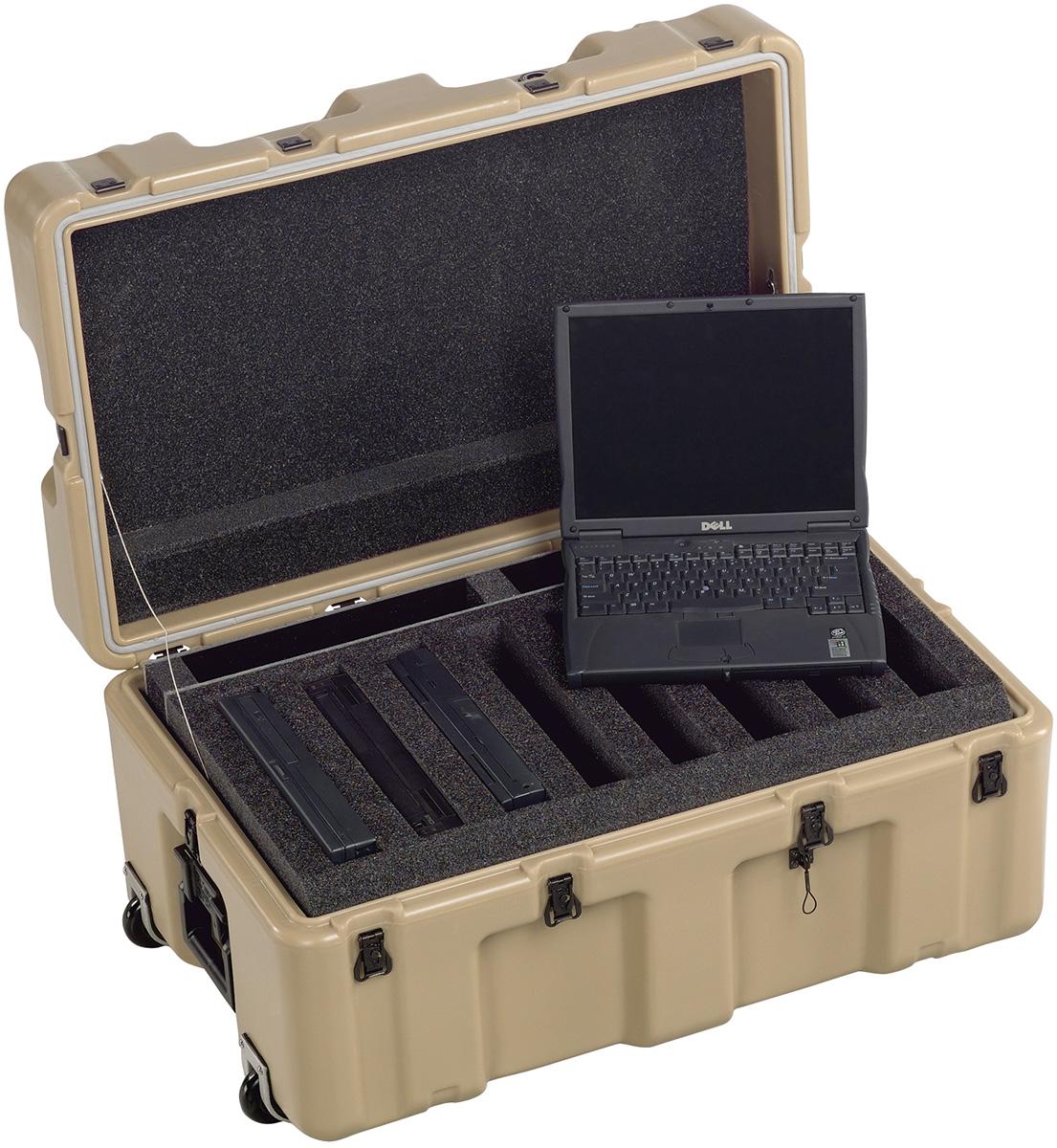 pelican military army laptop plastic case