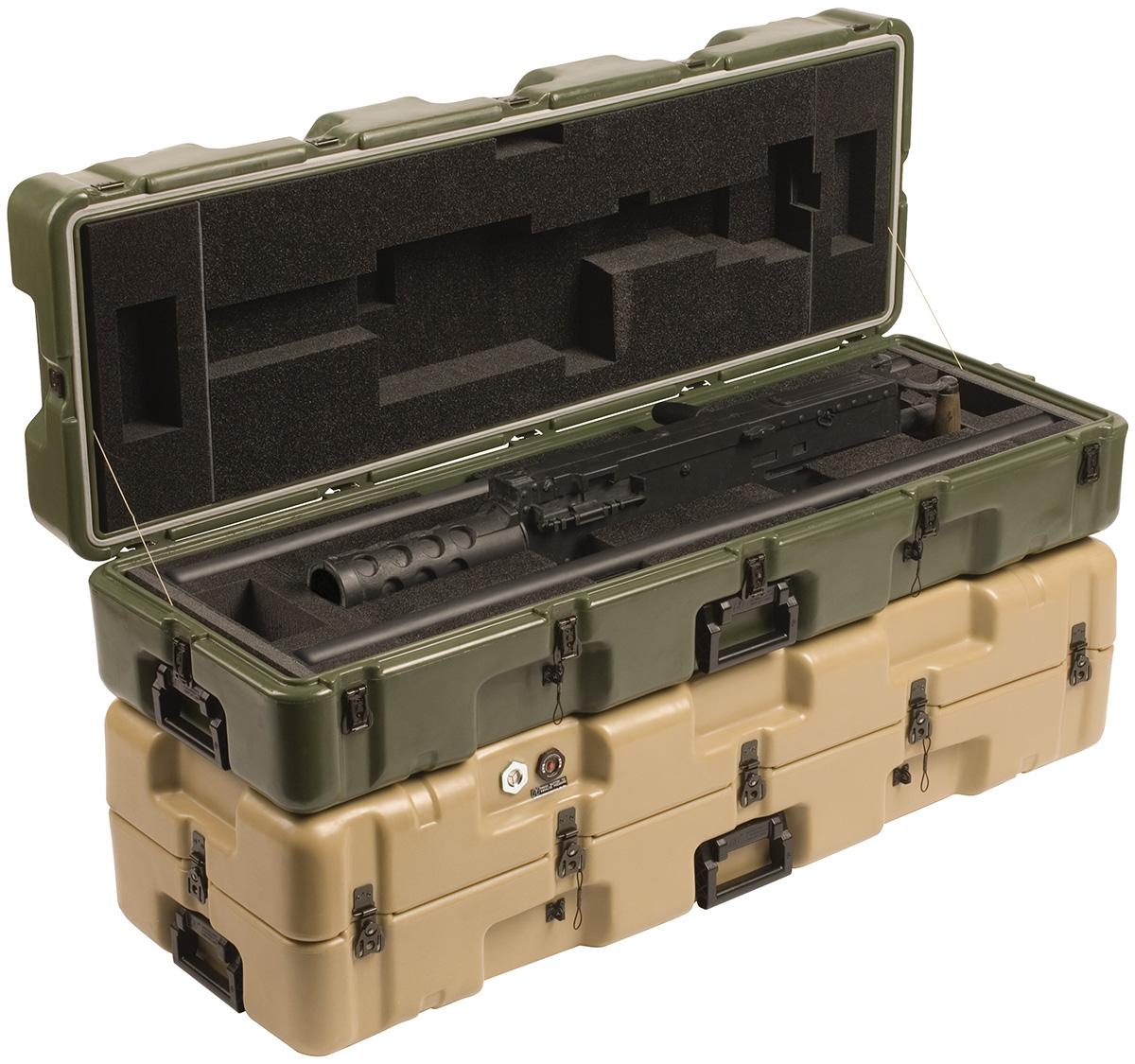 pelican military m2 gun transport case
