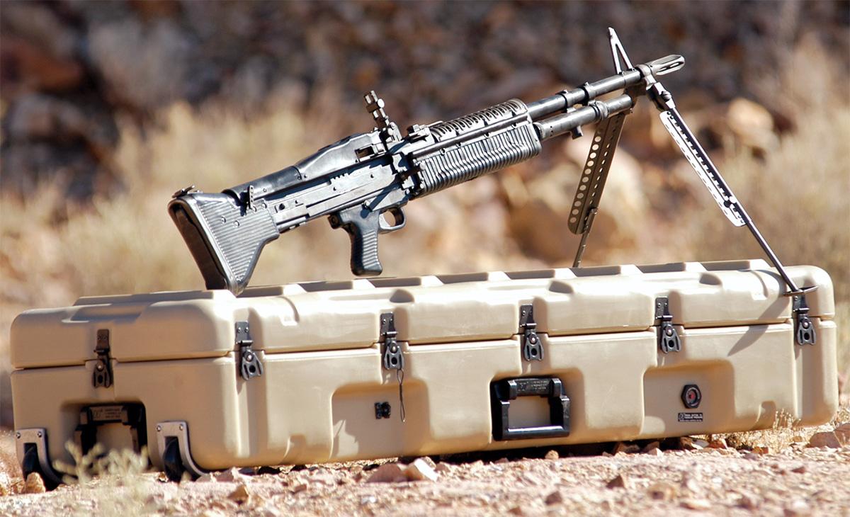 pelican usa military m60 machine gun case