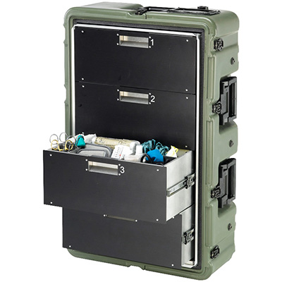 pelican 472 medchest3 4d military mobile medical cabinet
