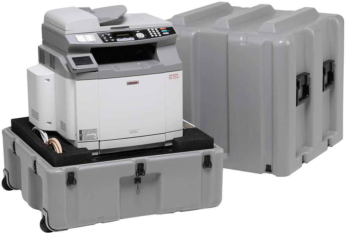 pelican usa military printer transport case
