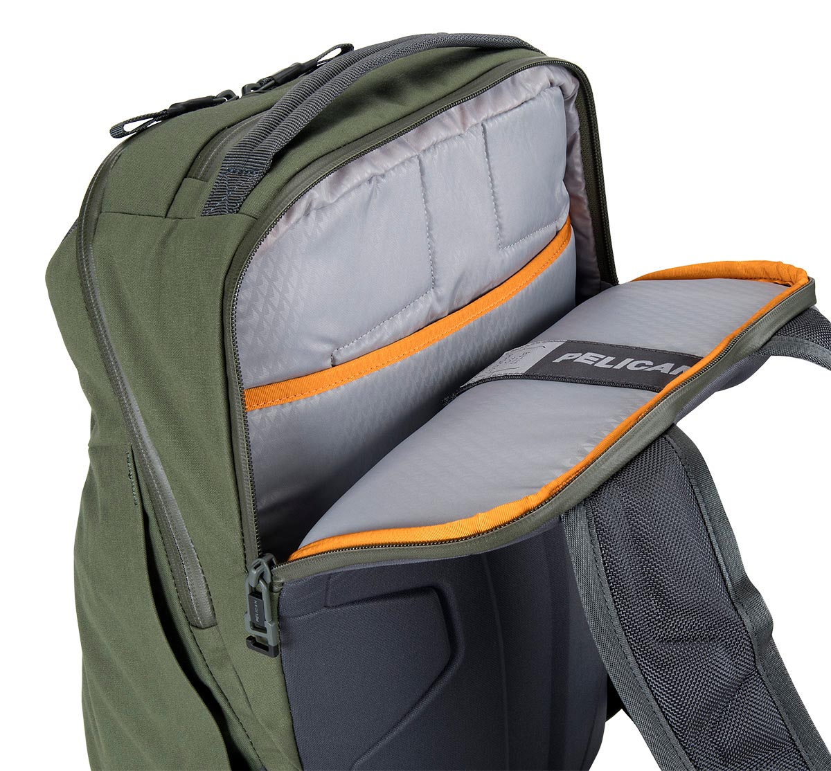 pelican green waterproof laptop backpack