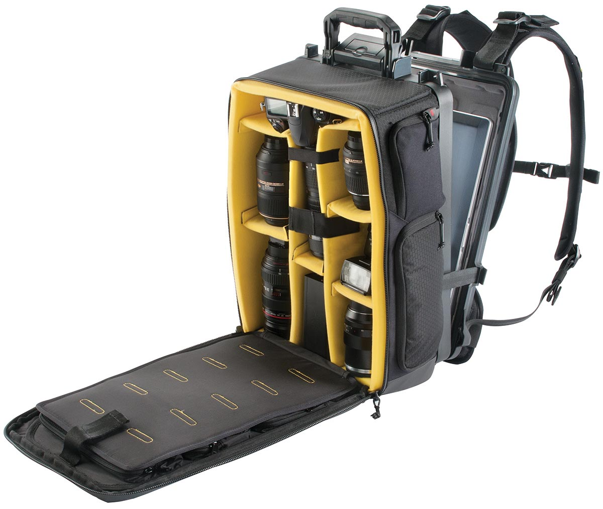 pelican photographer camera travel backpack