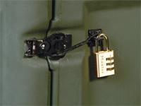 Pelican cases lock cable latch