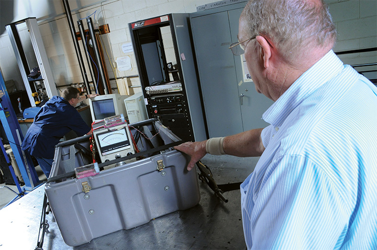 pelican four stage case test lab