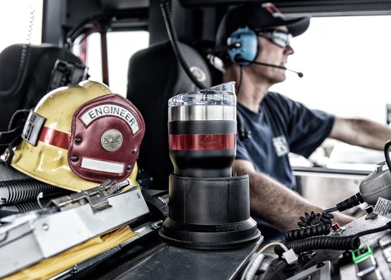pelican firefighter drinkware tumbler