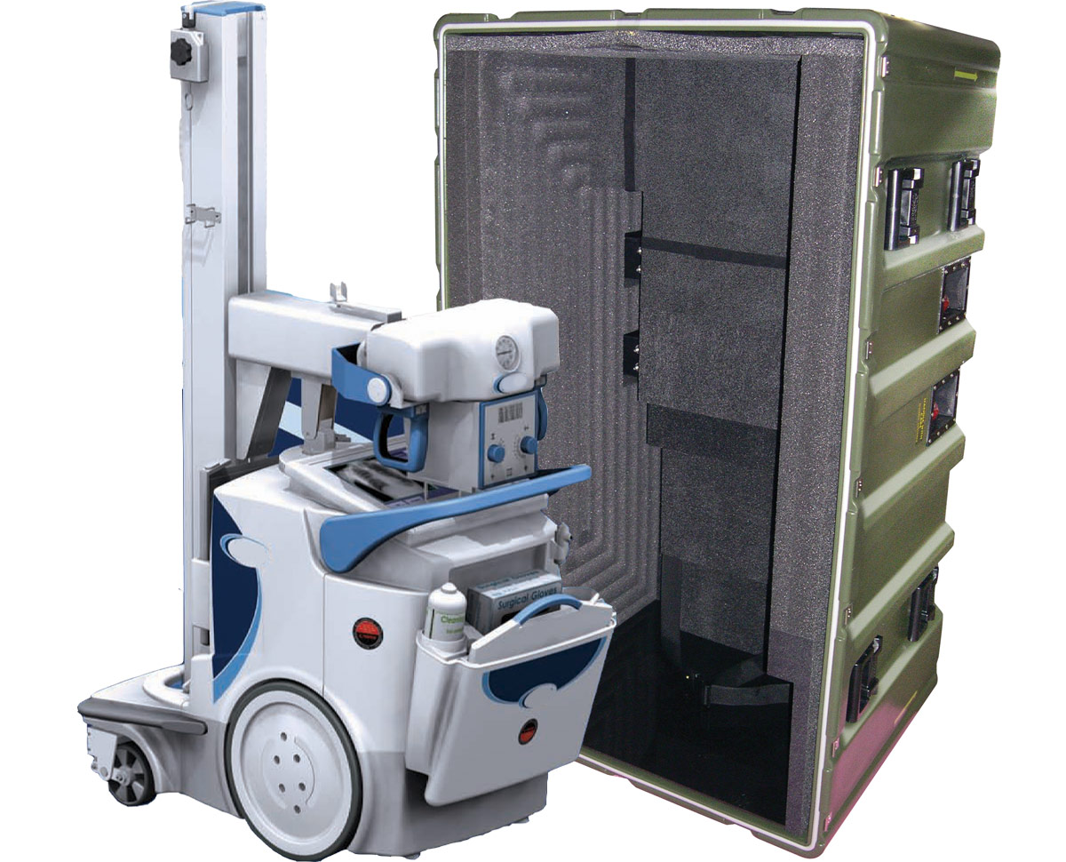 Pelican dragon radiography system case