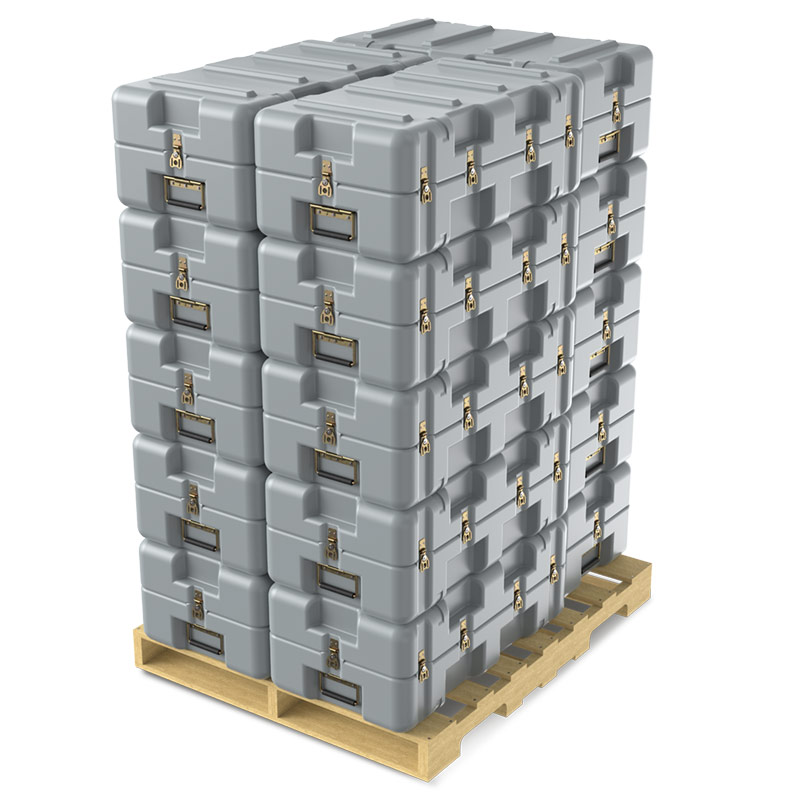 pelican light lift case stack